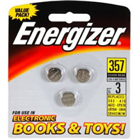 357 Battery Energizer 357BP-3 1.5 Volt Watch and Electronic Batteries