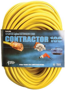 Coleman Extension Cord Coleman Cable 12/3 100-Foot Vinyl Outdoor Cord