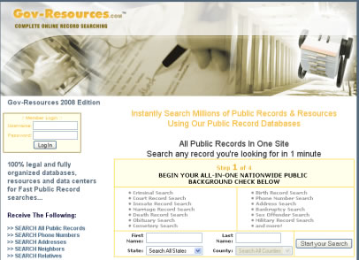govresources Background Report 360 Review Public Records Search Review