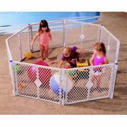 Kids Play Area North States Superyard XT Gate Play Yard for Pets or Kids