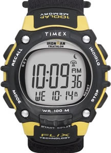 Timex Ironman Triathlon Watch 100 Lap Resin Strap #T5F591